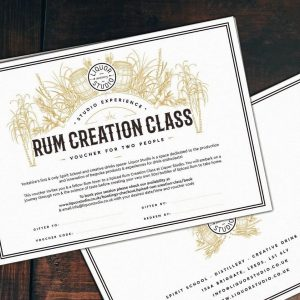 Spiced Rum Creation Class for 2 Gift Voucher