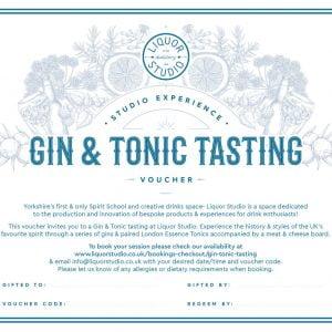 Gin & Tonic Tasting Gift Voucher