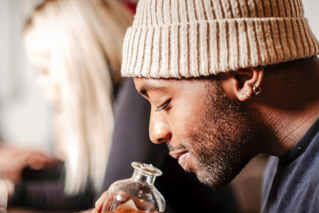 Guest enjoying a rum tasting
