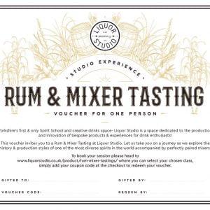 Rum & Mixer Tasting Gift Voucher